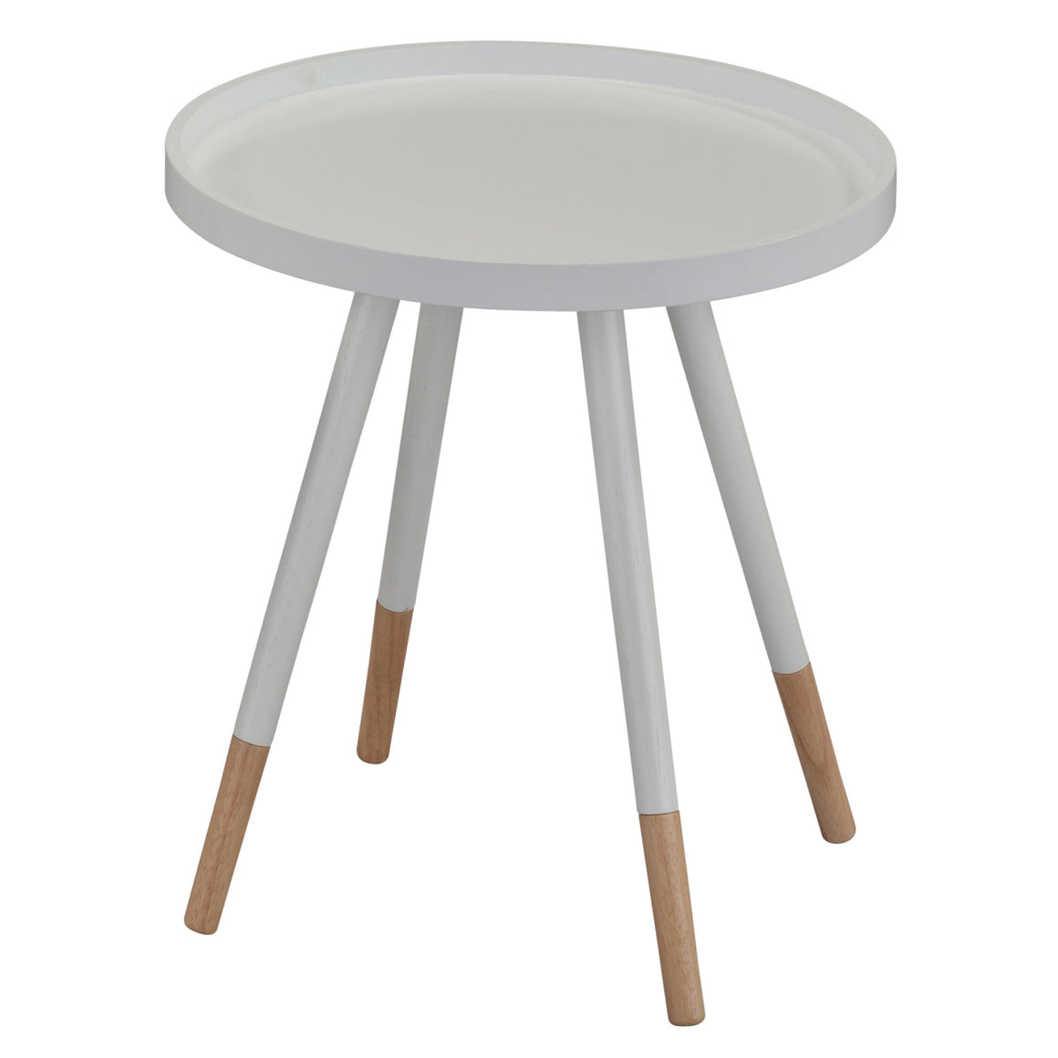 Hue White Accent Side Table