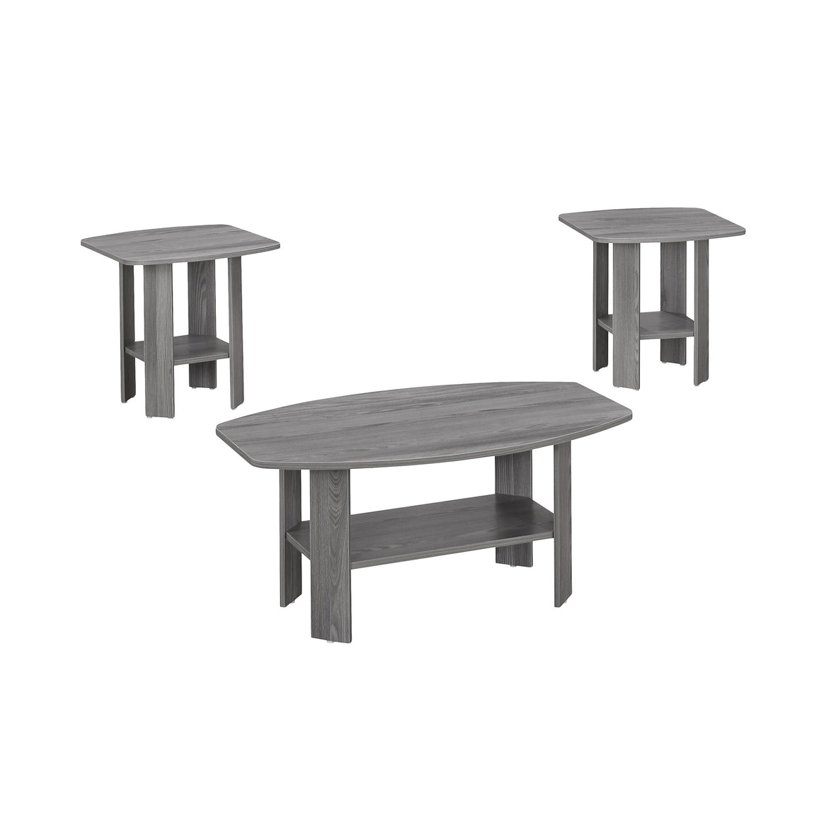 Presslyn 3pcs Table Set Grey