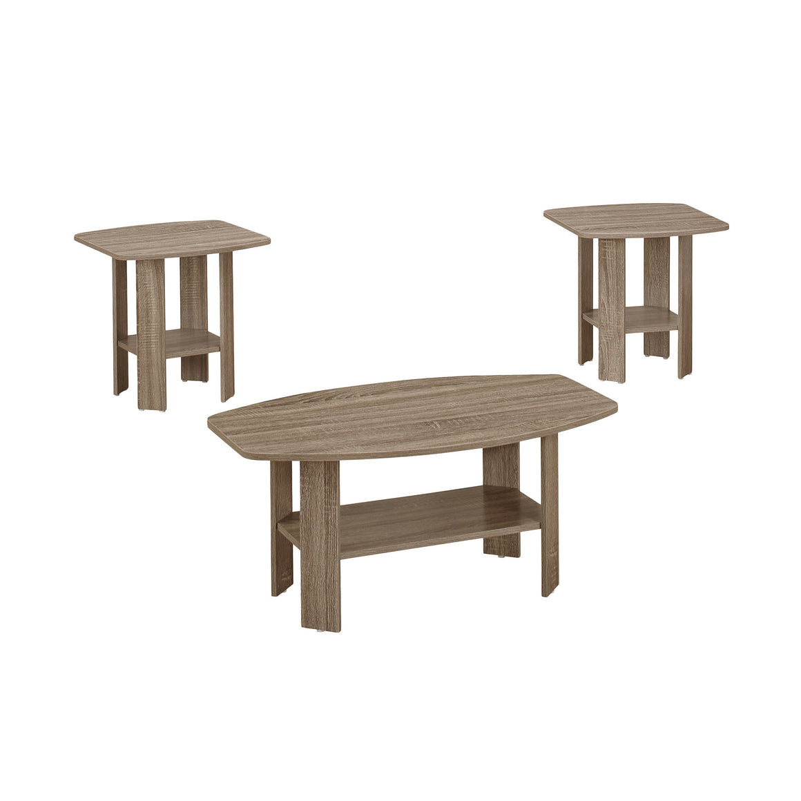 Presslyn 3pcs Table Set Dark Taupe