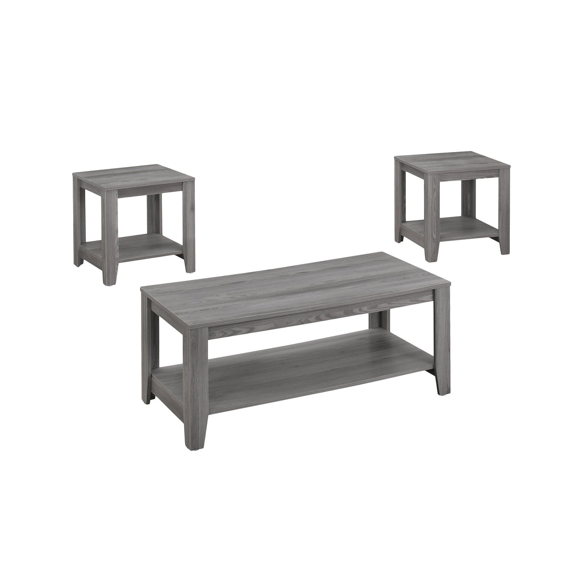 Upton 3pcs Table Set Grey