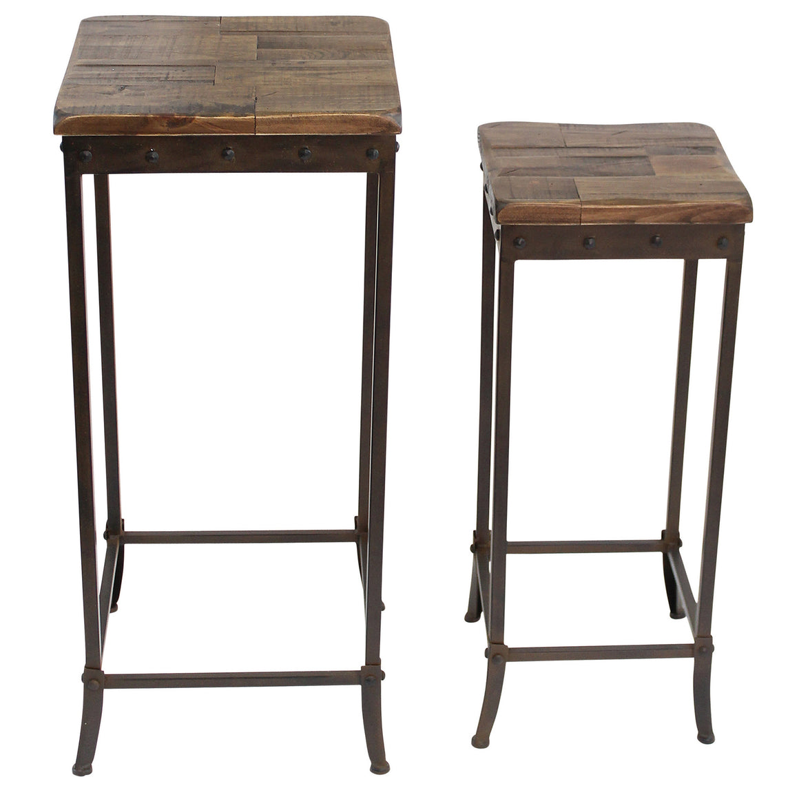 Trenton Distressed Pine 2PC Side Table