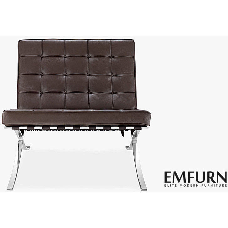 ... Barcelona Style Chair Aniline Leather / Dark Brown EMFURN - 65 ...  sc 1 st  Emfurn Canada & Barcelona Chair Replica. Premium Version. - EMFURN.CA