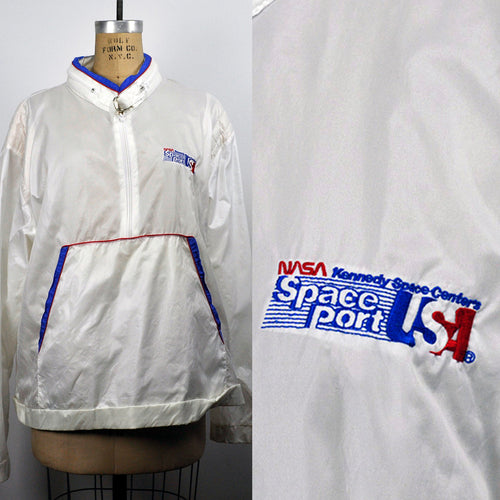 Vintage NASA Kenned Space Center Spaceport Nylon Windbreaker Jacket