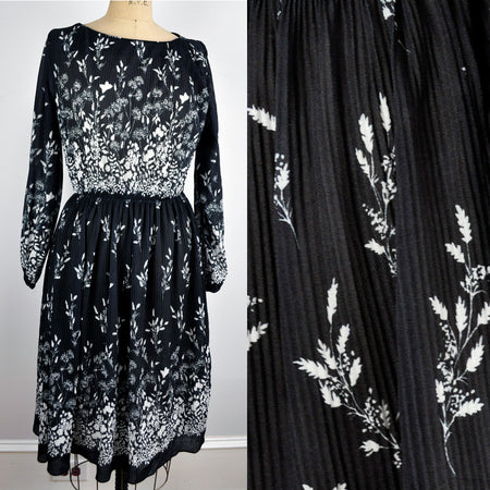 Vintage Thick Belted Pretty Floral Graphic Print Strapless Dress