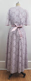 Vintage Purple Pastel Lavender Halston III Bridesmaids Maxi Floral Dress