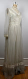 Vintage Off White / Cream Prairie Maxi  Wedding Dress - Union Made Never Been Worn