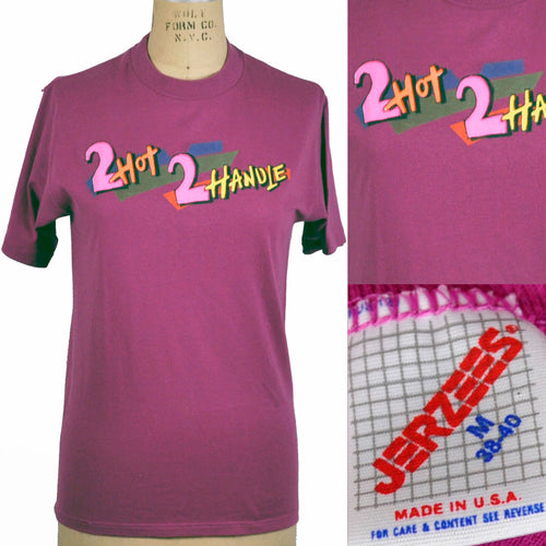 Vintage Fuchsia 1990s 2 Hot 2 Handle Tee Shirt