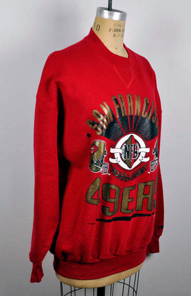Vintage 1994 San Francisco 49ers Red Football Sweatshirt Large