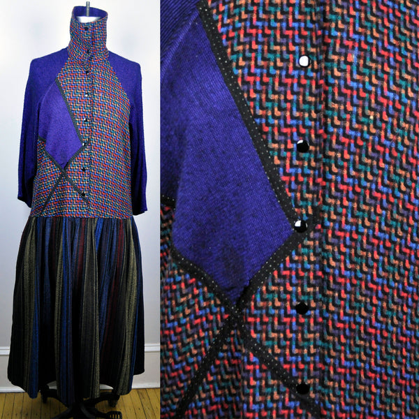 Vintage Koos Van Den Akker for Hothouse NY Colorful Geometric Dress