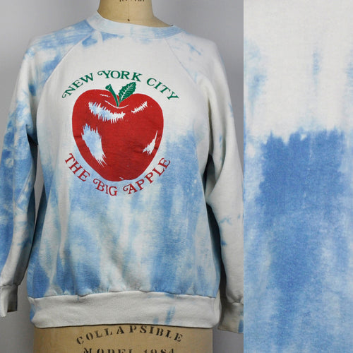 Vintage 1980s New York City Big Apple Tie Dye Sweatshirt