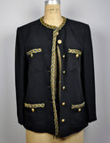 Vintage 1980s Metallic Sequined Louis Feraud Jacket Blazer