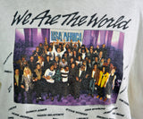 Vintage 1985 We Are The World T-Shirt USA Africa Bob Dylan MTV Michael Jackson Bruce Springsteen