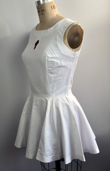 Vintage Bonwit Teller Tennis Dress Outfit and High Waisted Shorts