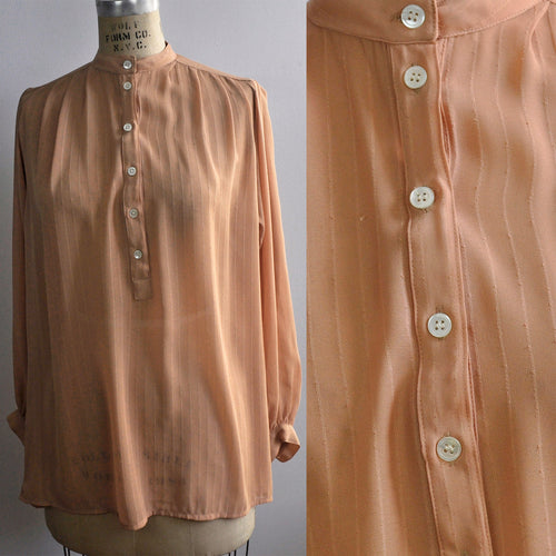 Vintage Peach See-through Regina Porter for Porterhouse Classic Blouse
