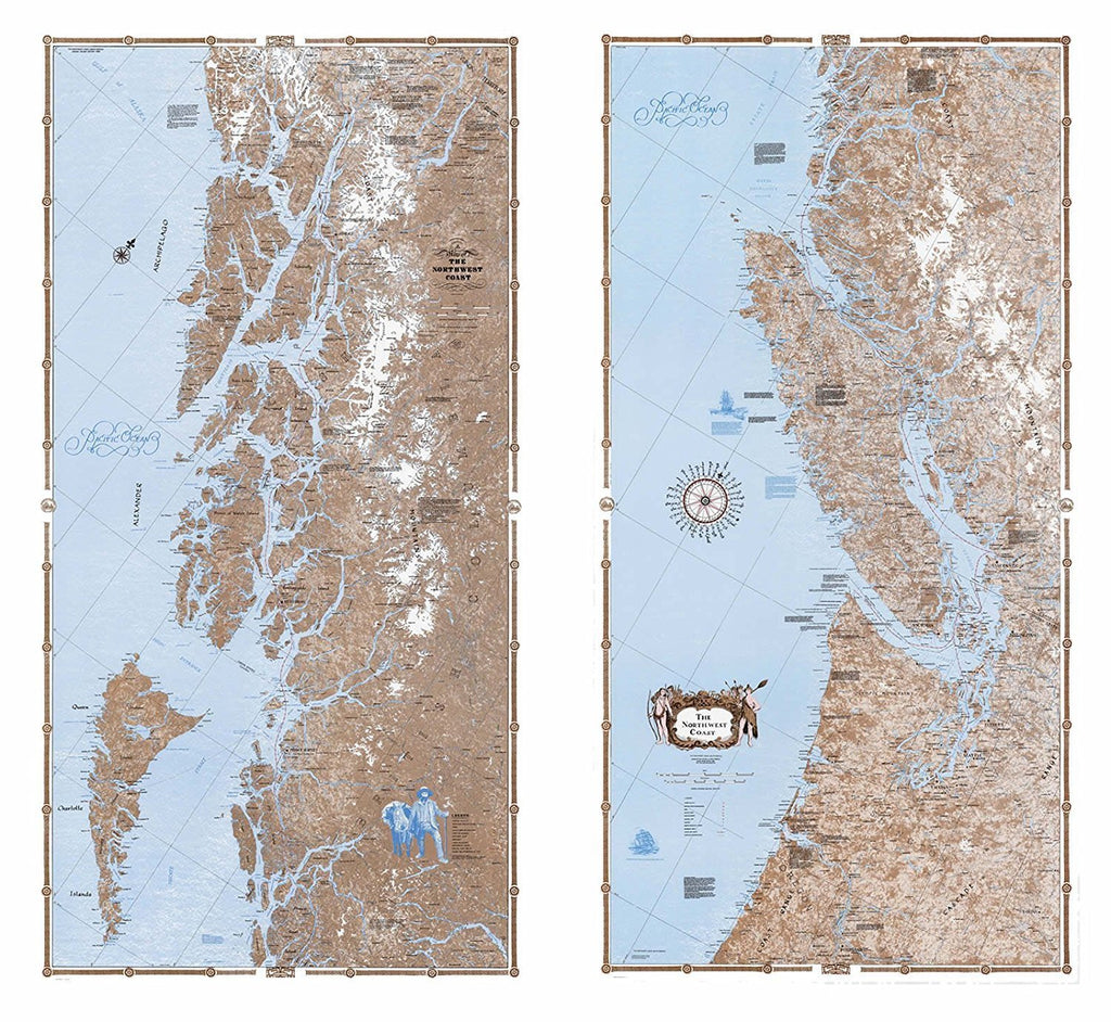 Sobay Co. Pacific NW Coast North/South Bundle Wall Maps