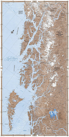 Sobay Co. Pacific NW Coast North Part Wall Map