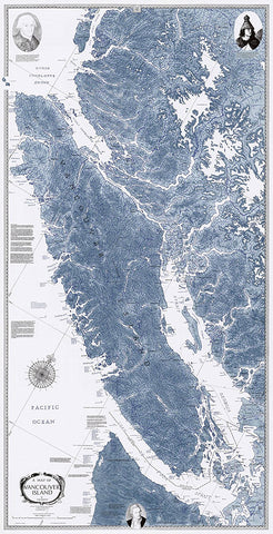 Sobay Co. Vancouver Island Salish Sea Wall Map