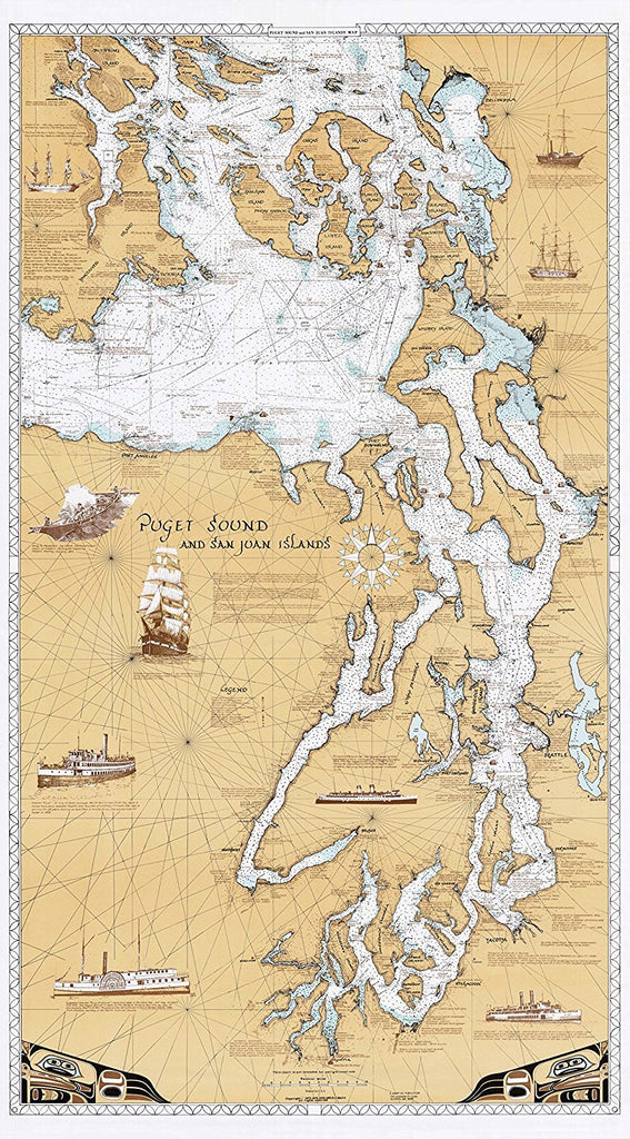 Sobay Co. Salish Sea Wall Map