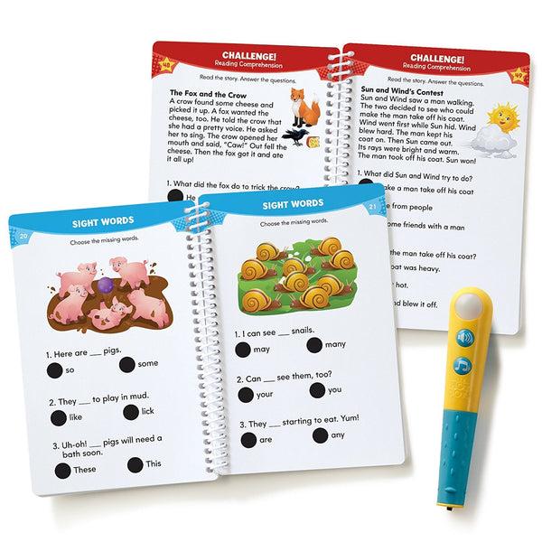 Educational Insights Hot Dots - Let's Master Grade 1 Reading - with Talking Pen