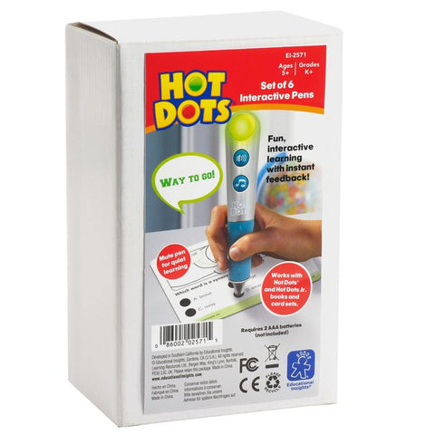 Hot Dots Talking Pen 6 Set Silver