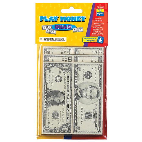 Lets Pretend Play Money - Bills