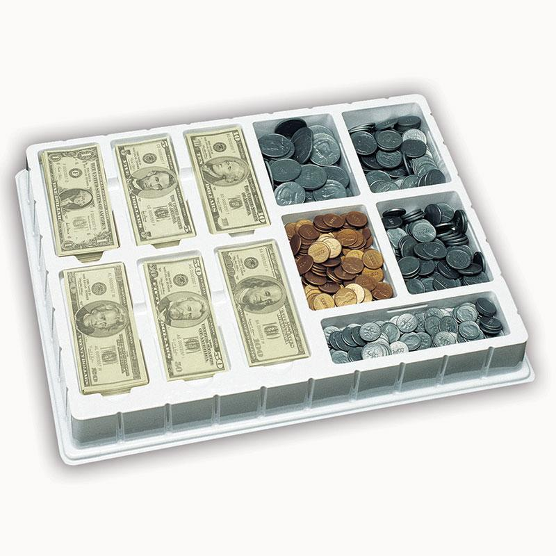 Lets Pretend Play Money Coins & Bills Deluxe Set
