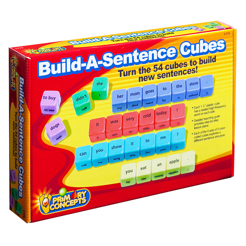 Primary Concepts Build-A-Sentence Cubes