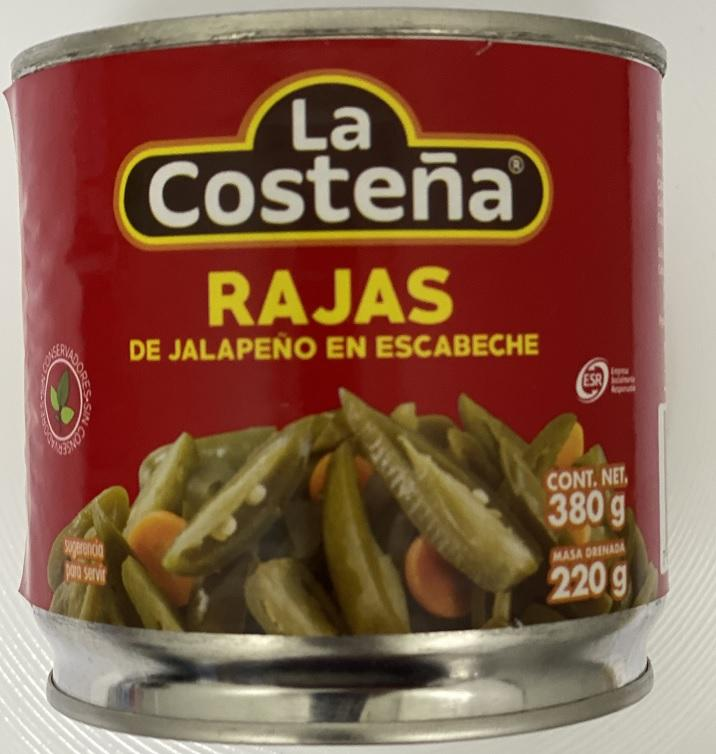 CHILE RAJAS COSTEÑA 380GRS. PZ $19.5