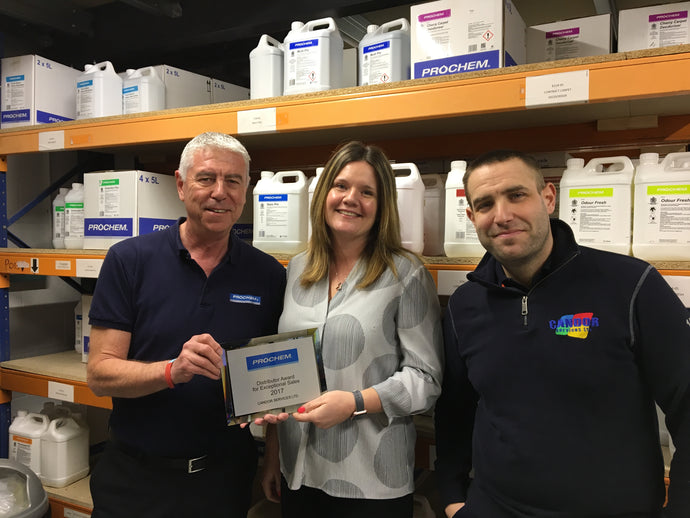 Candor have WON the Prochem Distributor Award for Exceptional Sales for the third time!