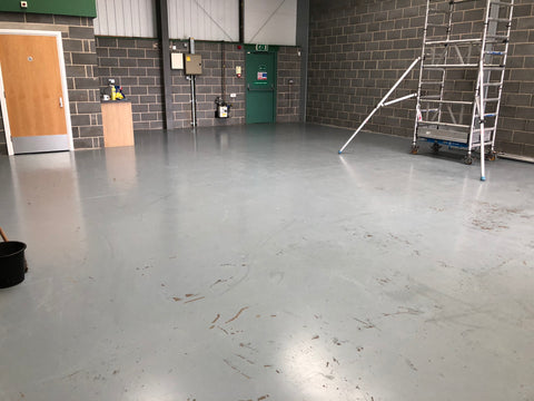 Painted flooring cleaning with Viper AS530R