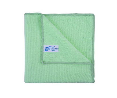 Robert Scott 40x40cm Exel Supercloth Green Pack of 10 Cloths