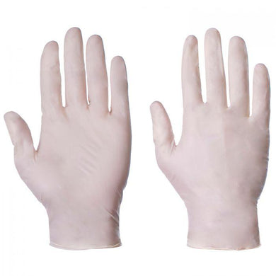 SuperTouch Latex Powder Free Medium Gloves - Dispenser of 100