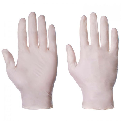 SuperTouch Latex Powder Free Large Gloves - Dispenser of 100