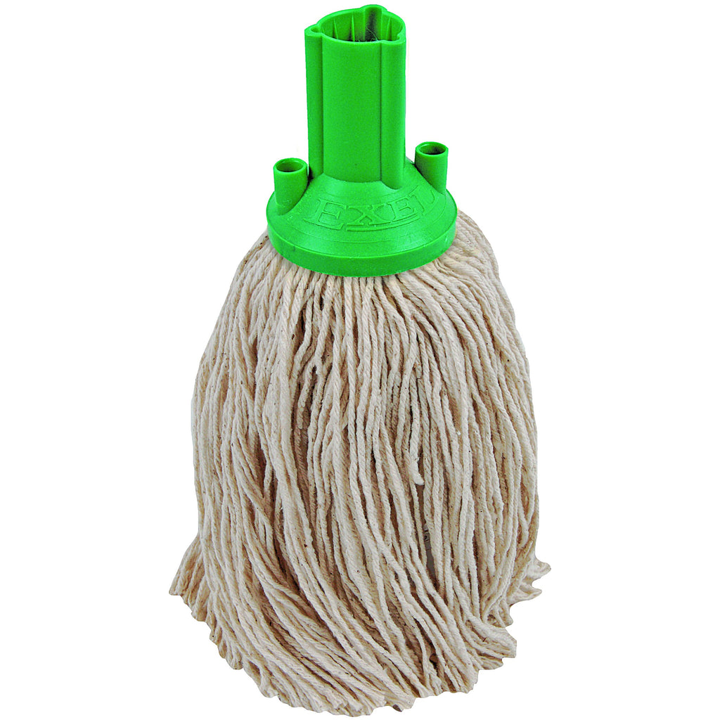 Twine Yarn Socket Mop 150G Excel Fitting - Case of 60 - Green Colour Coding
