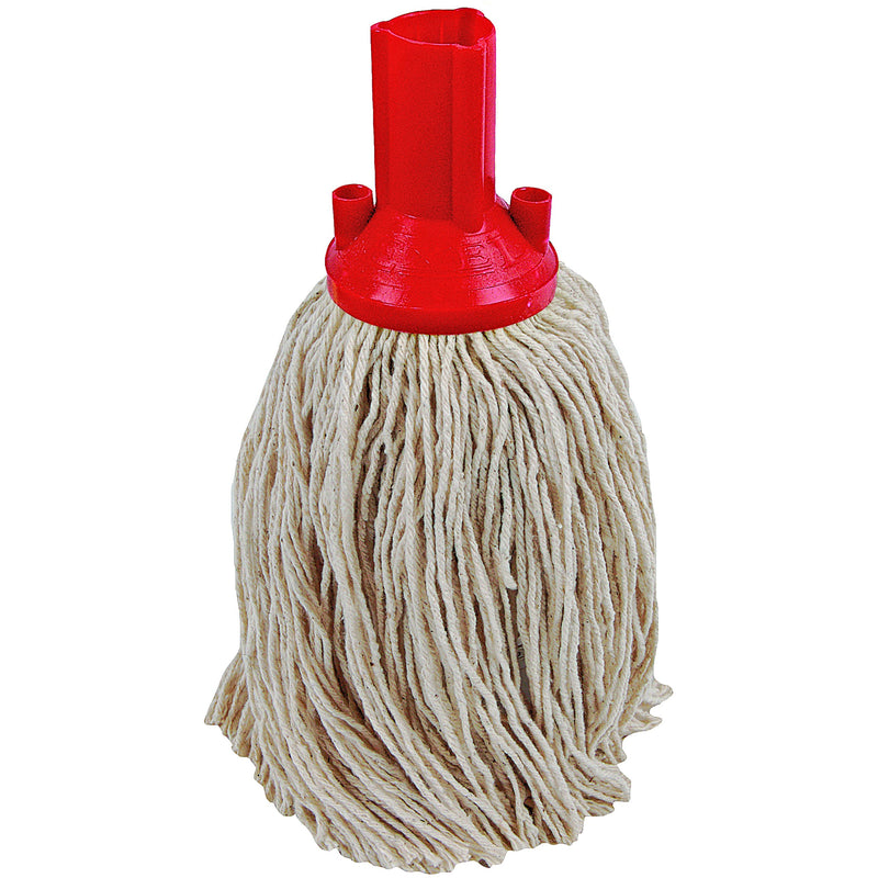 Twine Yarn Socket Mop 150G Excel Fitting - Case of 60 - Red Colour Coding