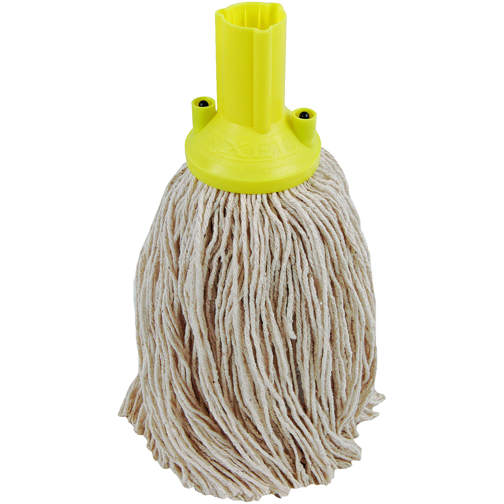 Twine Yarn Socket Mop 150G Excel Fitting - Case of 60 - Yellow Colour Coding