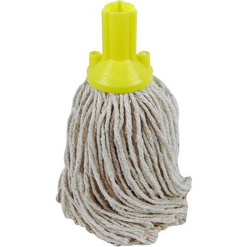 PY Yarn Socket Mop 200G Excel Fitting - Case of 60 - Yellow Colour Coding -  Mop - Robert Scott