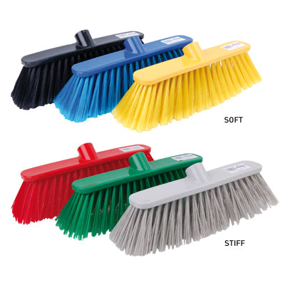 Deluxe Soft Broom Heads 28cm - Pack of 12 - Yellow