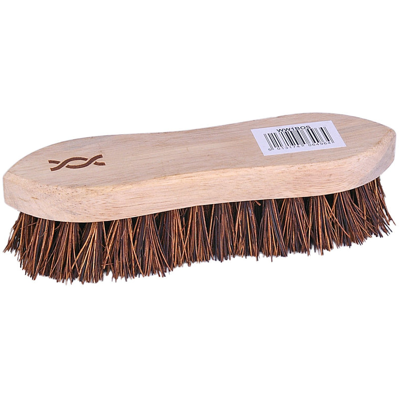Wooden scrubbing brush - stiff bristles case of 24