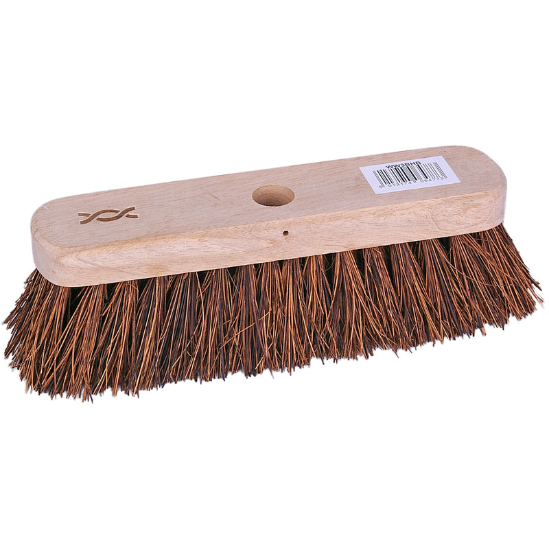 Standard Wooden Broom With Stiff Bristles 25cm Case of 12 broom heads