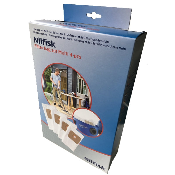 Nilfisk Multi 20 and Multi 30 dust bags - Box of 4