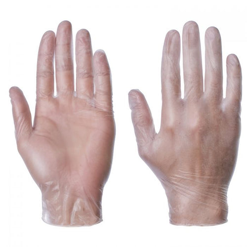 SuperTouch Vinyl Powder Free Large Gloves - Dispenser of 100