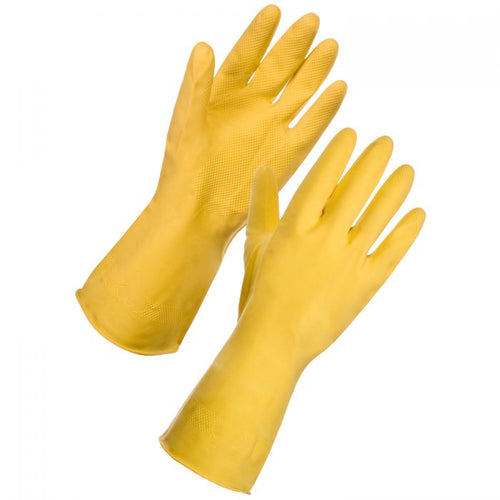 SuperTouch Yellow Small Household Rubber Gloves - 12 pairs