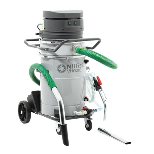 Nilfisk VHO200CB Industrial Vacuum Cleaner - All-In-One Metal Industry Liquid Collection