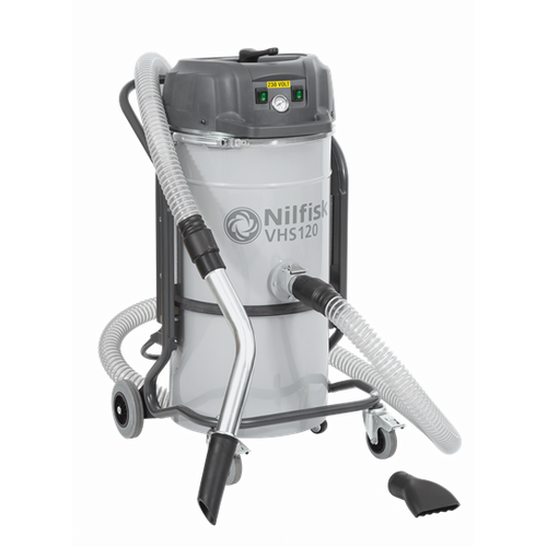 Nilfisk VHS120CB CC GV Industrial Vacuum Cleaner - All-In-One Swarf Collection And Machinery Cleaning