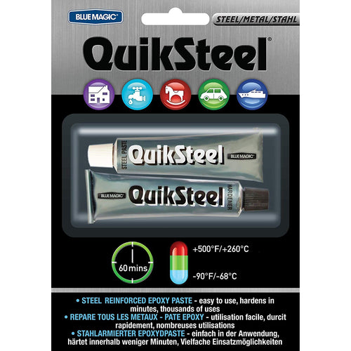 QuikSteel Metal Grey Epoxy Paste -  Repair Item - QuickSteel
