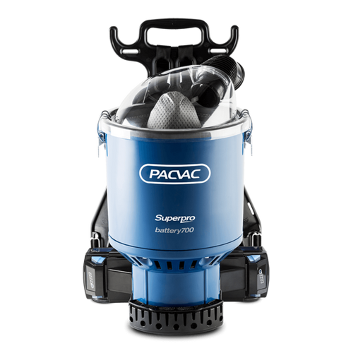 Pacvac Superpro Battery Advanced Back Pack - 700BA -  Back Pack Vacuum Cleaner - Pacvac