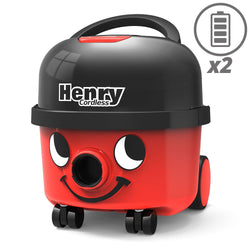 Numatic HVB160 Henry Cordless With 2 Batteries -  Cylinder Vacuum Cleaner - Numatic