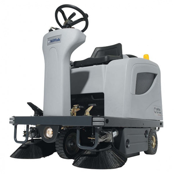 Nilfisk SR100S Battery Indoor and outdoor ride on floor sweeper