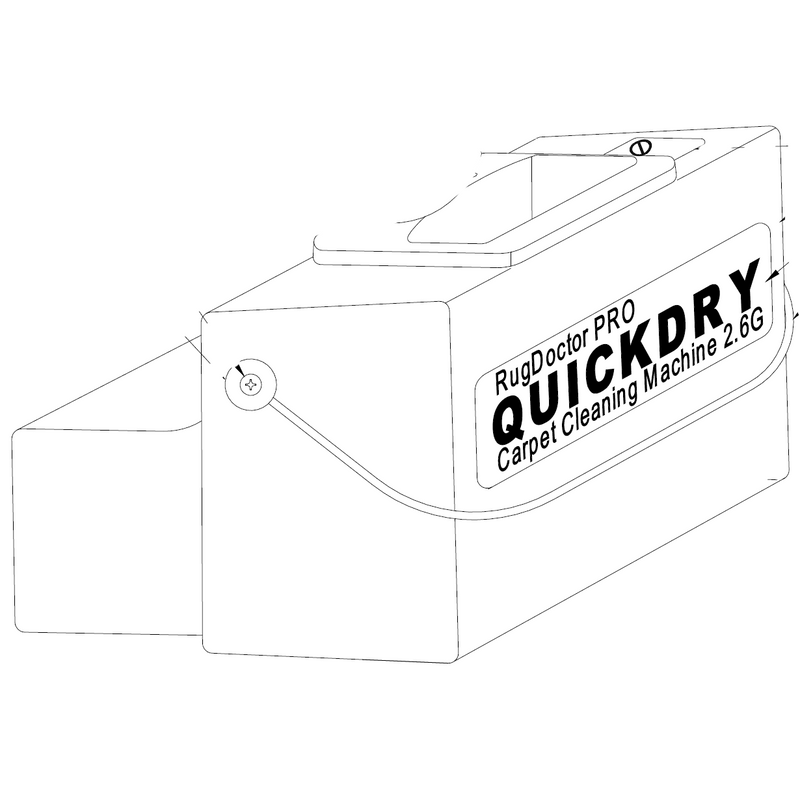 Rugdoctor Wide Track recovery / dirty water tank